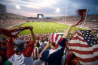 USA Fans cheer against Latvia in Hartford, Ct, Sunday, May 28th, 2006.