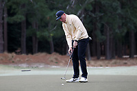 PINEHURST, NC - MARCH 02: Parker Gillam of Wake Forest University sinks a putt on the first hole at Pinehurst No. 2 on March 02, 2021 in Pinehurst, North Carolina.