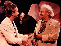 September 1983  File Photo - Claude Dubois (L) and Felix Leclerc (R)