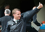 St Johnstone v Celtic…20.08.16..  McDiarmid Park  SPFL<br />Thumbs up from Brendan Rodgers<br />Picture by Graeme Hart.<br />Copyright Perthshire Picture Agency<br />Tel: 01738 623350  Mobile: 07990 594431