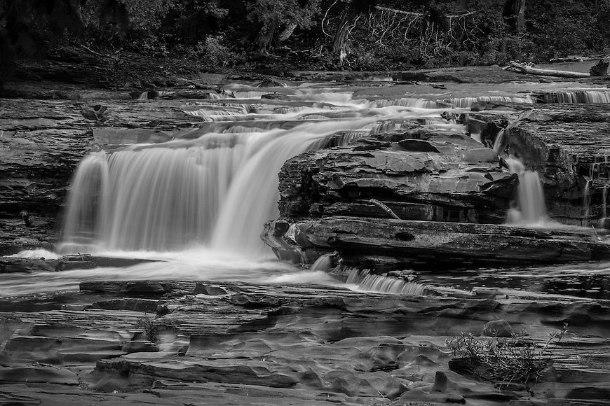 Nawadaha Falls in the Porcupine Mountains State Park in the UP of Michigan