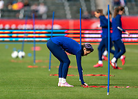 CARSON, CA - FEBRUARY 9: Megan Rapinoe #15 of the United States warms up during a game between Canada and USWNT at Dignity Health Sports Park on February 9, 2020 in Carson, California.