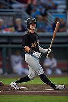 West Virginia Black Bears Ethan Paul (62) at bat during a NY-Penn League game against the Auburn Doubledays on August 23, 2019 at Falcon Park in Auburn, New York.  West Virginia defeated Auburn 6-5, the second game of a doubleheader.  (Mike Janes/Four Seam Images)