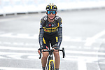 Sepp Kuss (USA) Jumbo-Visma crosses the finish line at the end of Stage 16 of the 2021 Tour de France, running 169km from Pas de la Case to Saint-Gaudens, Andorra. 13th July 2021.  <br /> Picture: Colin Flockton   Cyclefile<br /> <br /> All photos usage must carry mandatory copyright credit (© Cyclefile   Colin Flockton)