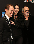 "Jeffrey Seller, Cher and Flody Suarez attends the Broadway Opening Night Performance of ""The Cher Show""  at the Neil Simon Theatre on December 3, 2018 in New York City."