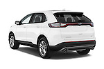 Car pictures of rear three quarter view of 2015 Ford Edge Titanium 5 Door SUV Angular Rear
