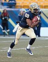 Pitt running back Rachid Ibrahim. The Miami Hurricanes defeated the Pitt Panthers 41-31 at Heinz Field, Pittsburgh, Pennsylvania on November 29, 2013.