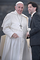 Pope Francis presidente del Rinnovamento nello Spirito Santo Salvatore Martinez during a meeting with the  Movement of Renewal in the Spirit.n St. Peter square at the Vatican,.3 July 2015