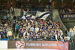 Real Madrid´s fans during 2014-15 Euroleague Basketball match between Real Madrid and Anadolu Efes at Palacio de los Deportes stadium in Madrid, Spain. December 18, 2014. (ALTERPHOTOS/Luis Fernandez)