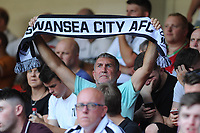 A Swansea City fan during the Sky Bet Championship match between Sheffield United and Swansea City at Bramall Lane, Sheffield, England, UK. Saturday 04 August 2018