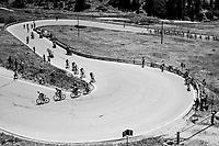 up the Passo Pordoi (2239m)<br /> <br /> Stage 18: Moena › Ortisei/St. Urlich (137km)<br /> 100th Giro d'Italia 2017