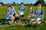 Taking instructions from their coach at the Ballymac GAA Cúl Camps on Tuesday, l to r: Sean Martin, Conor McCarthy, Keith O'Leary (Coach), Jack Collins and Kyran Boyle