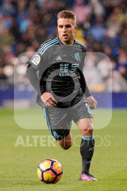 Real Sociedad's Kevin Rodriguez during La Liga match between Real Madrid and Real Sociedad at Santiago Bernabeu Stadium in Madrid, Spain. January 29, 2017. (ALTERPHOTOS/BorjaB.Hojas)