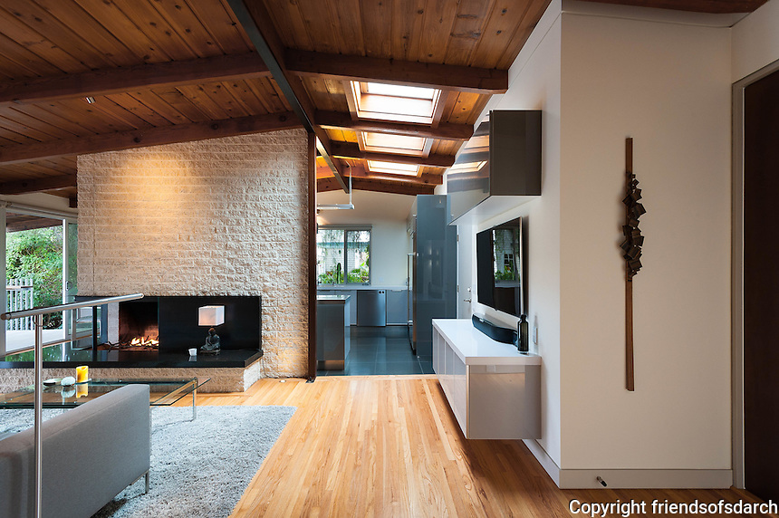 Brookes Redux, Mission Hills. Remodel completed in 2013. Original mid-century house was dated and dark. A respectful modernization focused on bringing in light, color, texture and a connection to the outdoors while maintaining the original bones. Pamela Magnus, Architect.