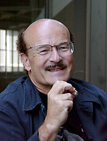 August 31, 2000, Montreal, Quebec, Canada<br /> <br /> Film maker Wolker Schlöndorff ; gives an interview abiout his movie`` Hommage à Babelsberg / les  Légendes de Rita`` presented at the Montreal World Film Festival<br /> <br />  <br /> Mandatory Credit: Photo by Pierre Roussel- Images Distribution. (©) Copyright 2000 by Pierre Roussel <br /> ON SPEC<br /> NOTE  1024x1280 digital camera image, saved in Adobe 1998 RGB.
