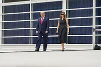 United States President Donald Trump and First lady Melania Trump visit Saint John Paul II National Shrine in Washington, DC on Tuesday, June 2, 2020.<br /> Credit: Chris Kleponis / Pool via CNP/AdMedia