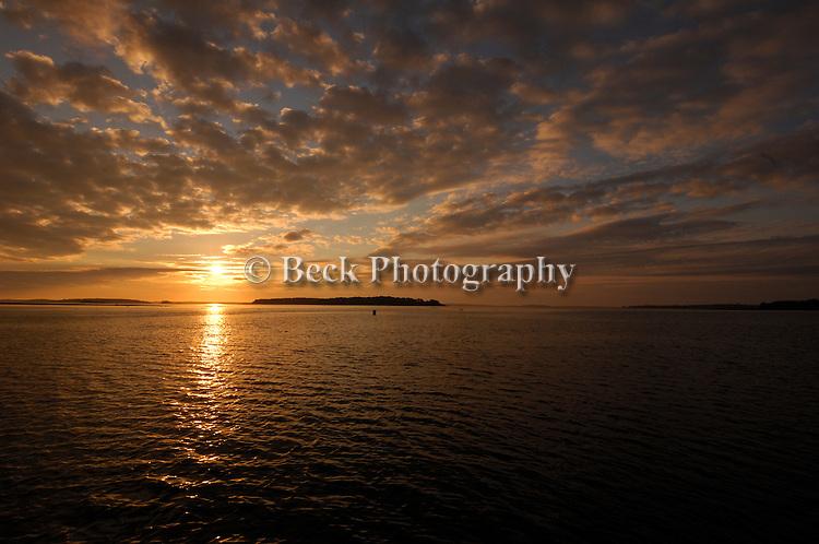 First light Casco Bay Maine