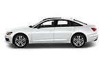 Car Driver side profile view of a 2021 Audi A6-Sedan Premium-Plus 4 Door Sedan Side View