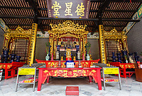 Altar Dedicated to  Clan Founders, Chan See Shue Yuen Chinese Clan House, Kuala Lumpur, Malaysia.