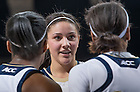 Feb 27, 2014; Natalie Achonwa (11) talks with her teammates in the first half against the North Carolina Tar Heels at the Purcell Pavilion. Notre Dame won 100-75. <br /> <br /> Photo by Matt Cashore