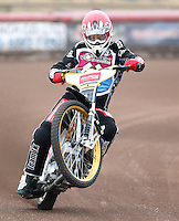 Richard Lawson of Lakeside Hammers - Lakeside Hammers Press & Practice Day at the Arena Essex Raceway, Pufleet - 20/03/15 - MANDATORY CREDIT: Rob Newell/TGSPHOTO - Self billing applies where appropriate - 0845 094 6026 - contact@tgsphoto.co.uk - NO UNPAID USE