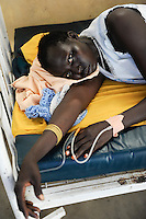 "Afrika Suedsudan Rumbek , Diakonie Gesundheitsstation in Cuibet , schwanger Dinka Frau Mary Ayen auf Geburtsstation | .Africa South Sudan Rumbek , health center   .| [ copyright (c) Joerg Boethling / agenda , Veroeffentlichung nur gegen Honorar und Belegexemplar an / publication only with royalties and copy to:  agenda PG   Rothestr. 66   Germany D-22765 Hamburg   ph. ++49 40 391 907 14   e-mail: boethling@agenda-fototext.de   www.agenda-fototext.de   Bank: Hamburger Sparkasse  BLZ 200 505 50  Kto. 1281 120 178   IBAN: DE96 2005 0550 1281 1201 78   BIC: ""HASPDEHH"" ,  WEITERE MOTIVE ZU DIESEM THEMA SIND VORHANDEN!! MORE PICTURES ON THIS SUBJECT AVAILABLE!! ] [#0,26,121#]"