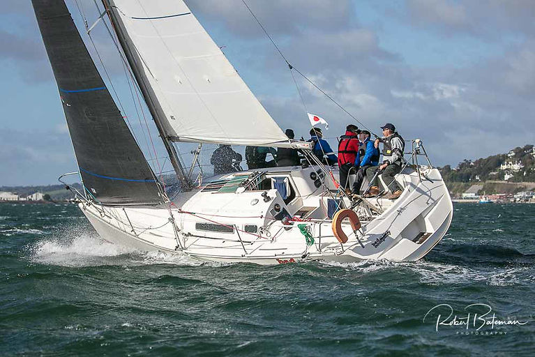 The Sunfast 32 Bad Company (Desmond/Ivers/Keane) lies fourth in IRC One of the AIB RCYC Autumn League