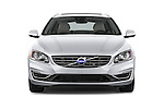 Car photography straight front view of a 2015 Volvo V60 T5 Drive-E FWD Door wagon Front View