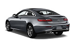 Car pictures of rear three quarter view of a 2018 Mercedes Benz E Class Executive 2 Door Coupe angular rear