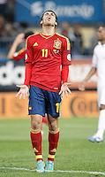 Spain's national team Pedro Rodriguez dejected during match. October 16, 2012. (ALTERPHOTOS/Alvaro Hernandez) /NORTEPhoto