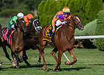 August 14, 2021: Got Stormy #6, ridden by Tyler Gaffalione win the Grade 1 Fourstardave Handicap at Saratoga Race Course in Saratoga Springs, N.Y. on August 14, 2021. Rob Simmons/Eclipse Sportswire/CSM