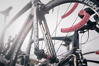 Team Aqua Blue Sport spare teambikes on the roof rack<br /> <br /> 77th Euro Metropole Tour 2017<br /> La Louvière > Tournai (BEL): 188.6 km