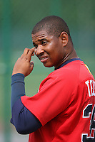 March 23rd 2008:  Ferdin Tejeda of the Atlanta Braves minor league system during Spring Training at Disney's Wide World of Sports in Orlando, FL.  Photo by:  Mike Janes/Four Seam Images
