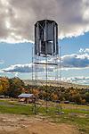 Wind turbines located at Diemand Farm in Montague, MA