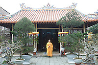 Monks at Thien Minh monastery.