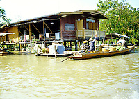 The floating market outside of Bangkok, Thailand