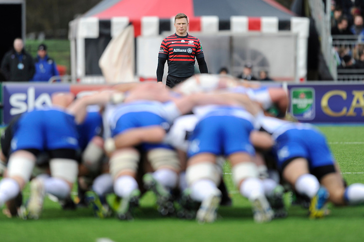 during the Heineken Cup Round 6 match between Saracens and Connacht Rugby at Allianz Park on Saturday 18th January 2014 (Photo by Rob Munro)