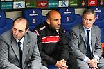 Quini, Abelardo & Clemente. RCD Espanyol vs Sporting Gijon-League BBVA 2011/12-Game 36.