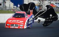 May 20, 2012; Topeka, KS, USA: NHRA funny car driver Johnny Gray during the Summer Nationals at Heartland Park Topeka. Mandatory Credit: Mark J. Rebilas-