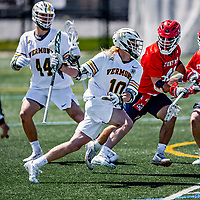 1 May 2021: University of Vermont Catamount Attacker David Closterman, a Junior from Doylestown, PA, in action against the Stony Brook University Seawolves at Virtue Field in Burlington, Vermont. The Cats edged out the Seawolves 14-13 with less than one second to play in their America East Men's Lacrosse matchup. A former America East Rookie of the Year, Closterman earned a spot on the All-Conference Second Team for the second time in his career. Mandatory Credit: Ed Wolfstein Photo *** RAW (NEF) Image File Available ***