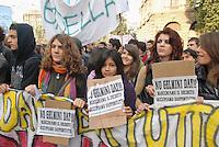 - demonstration of middle school students against the school reform of the education minister Mariastella Gelmini....- manifestazione studenti delle scuole medie contro la riforma scolastica del ministro dell'istruzione Mariastella Gelmini