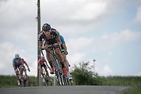 eventual winner Dries De Bondt (BEL/Verandas Willems) descending<br /> <br /> 69th Halle-Ingooigem 2016 (200km)