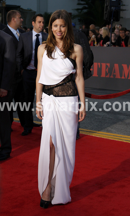 **ALL ROUND PICTURES FROM SOLARPIX.COM**.**SYNDICATION RIGHTS FOR UK, AUSTRALIA, DENMARK, PORTUGAL, S. AFRICA, SPAIN & DUBAI (U.A.E) & ASIA (EXCLUDING JAPAN) ONLY**.Arrivals for the world premiere of The A-Team. Held at the Grauman's Chinese Theater, Hollywood, CA, USA. 3 June 2010..This pic: Jessica Biel..JOB REF: 11390 PHZ Gabber   DATE: 03_06_2010.**MUST CREDIT SOLARPIX.COM OR DOUBLE FEE WILL BE CHARGED**.**MUST NOTIFY SOLARPIX OF ONLINE USAGE**.**CALL US ON: +34 952 811 768 or LOW RATE FROM UK 0844 617 7637**