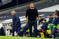 29th September 2020; Tottenham Hotspur Stadium, London, England; English Football League Cup, Carabao Cup, Tottenham Hotspur versus Chelsea; Chelsea Manager Frank Lampard looks up as a decision goes against his team