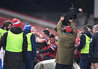 2nd January 2021; Kingsholm Stadium, Gloucester, Gloucestershire, England; English Premiership Rugby, Gloucester versus Sale Sharks; players, water boys and substitutes get involved in a fight on the edge of the pitch and team technical area