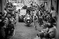 Ivan Rovny (RUS/Tinkoff-Saxo) on the last ascent of the very steep (20%) cobbled Via Principi d'Acaja<br /> <br /> stage 18: Muggio - Pinerolo (240km)<br /> 99th Giro d'Italia 2016