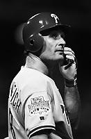 Jim Eisenreich of the Philadelphia Phillies at Dodger Stadium in Los Angeles,California during the 1996 season. (Larry Goren/Four Seam Images)
