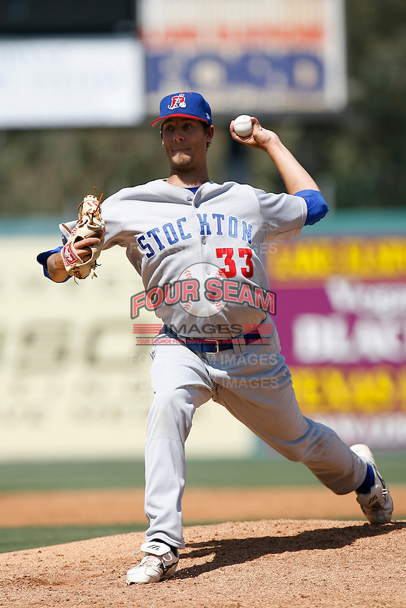 Ben Jukich of the Stockton Ports during a California League baseball game on April 29, 2007 at The Diamond in Lake Elsinore, California. (Larry Goren/Four Seam Images)