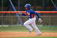 GCL Mets right fielder Wagner Lagrange (6) running the bases during a game against the GCL Marlins on August 12, 2016 at St. Lucie Sports Complex in St. Lucie, Florida.  GCL Marlins defeated GCL Mets 8-1.  (Mike Janes/Four Seam Images)