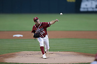 Arkansas Patrick Wicklander (33) pitches, Saturday, June 5, 2021 during the first inning in the second game of the NCAA Fayetteville Regional at Baum-Walker Stadium in Fayetteville. Check out nwaonline.com/210606Daily/ for today's photo gallery. <br /> (NWA Democrat-Gazette/Charlie Kaijo)